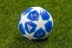 Leken för liga för UEFA-mästare på Luzhniki stadion, CSKA - Real Madrid royaltyfria bilder