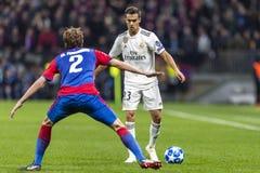 Leken för liga för UEFA-mästare på Luzhniki stadion, CSKA - Real Madrid arkivfoton