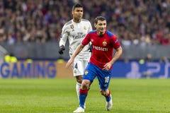 Leken för liga för UEFA-mästare på Luzhniki stadion, CSKA - Real Madrid royaltyfria foton