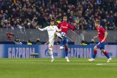 Leken för liga för UEFA-mästare på Luzhniki stadion, CSKA - Real Madrid arkivbild