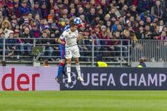 Leken för liga för UEFA-mästare på Luzhniki stadion, CSKA - Real Madrid royaltyfri fotografi