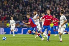 Leken för liga för UEFA-mästare på Luzhniki stadion, CSKA - Real Madrid royaltyfri foto