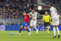 Leken för liga för UEFA-mästare på Luzhniki stadion, CSKA - Real Madrid royaltyfri bild