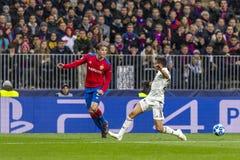 Leken för liga för UEFA-mästare på Luzhniki stadion, CSKA - Real Madrid fotografering för bildbyråer