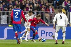 Leken för liga för UEFA-mästare på Luzhniki stadion, CSKA - Real Madrid arkivfoto