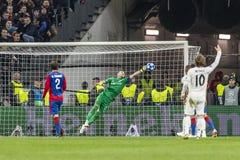 Leken för liga för UEFA-mästare på Luzhniki stadion, CSKA - Real Madrid arkivbilder