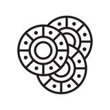 Leken gå i flisor symbolsvektortecknet och symbol som isoleras på den vita backgroen vektor illustrationer