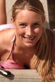 leki blondynkę słońce Zdjęcia Royalty Free