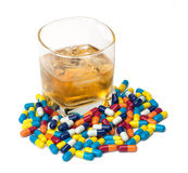 Leki i Alkohol Obraz Stock