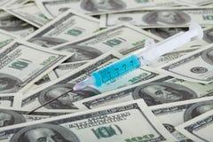 Leki i amerykan dolary Zdjęcie Stock