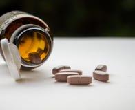 Leki lub witaminy fotografia stock