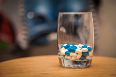 Leki w wineglass Obrazy Royalty Free