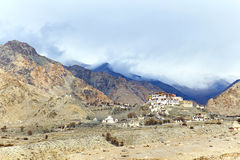 Lekir Buddhist monastery in the Himalayas Stock Photo