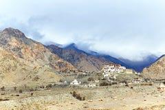 Lekir Buddhist monastery in the Himalayas Stock Photo