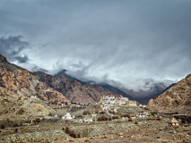 Lekir Buddhist monastery in the Himalayas, northern India Royalty Free Stock Photos