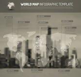 Lekka Światowa mapa z pointer ocenami (flaga) ilustracji