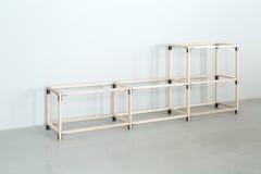 Lekka drewniana konstrukcja fotografia stock