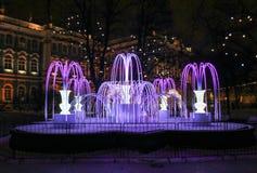 Lekka fontanna w parku Zdjęcie Stock