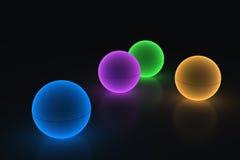 Lekka kolor piłka Zdjęcia Royalty Free