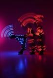 Lekka obraz fotografia Freezelight fotografii tancerze Zdjęcia Royalty Free