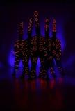 Lekka obraz fotografia Freezelight fotografii tancerze each światło różny Zdjęcie Stock