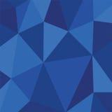 Lekka podłączeniowa struktura Poligonalny zmrok - błękitny wektorowy tło Zdjęcie Royalty Free