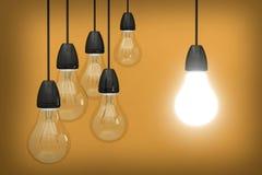 lekka pomysł żarówki innowacja kreatywnie Fotografia Stock