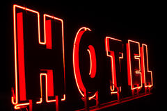 Lekka reklama dla hotelu zdjęcie stock