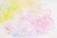 Lekka tło papieru tekstura w miękkich cieniach wiosna barwi w plama stylu akwarela abstrakcyjna Fotografia Royalty Free