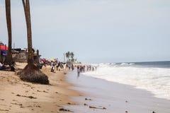 Lekki海滩在拉各斯 免版税库存图片