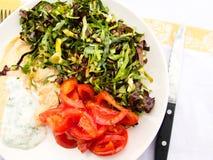 Lekki śródziemnomorski posiłek Fotografia Stock
