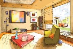 lekki żywy pokój ilustracja wektor