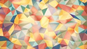 Lekki abstrakcjonistyczny tło trójboki różni kolory z lekkimi głównymi atrakcjami zdjęcie wideo