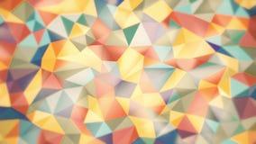 Lekki abstrakcjonistyczny tło trójboki różni kolory z lekkimi głównymi atrakcjami zbiory wideo