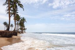 Lekki Beach in Lagos. Beach of Lagos, commercial capital of Nigeria Royalty Free Stock Photos