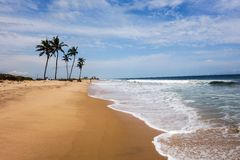 Lekki Beach in Lagos. Beach of Lagos, commercial capital of Nigeria Royalty Free Stock Photo