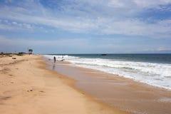 Lekki Beach in Lagos. Beach of Lagos, commercial capital of Nigeria Royalty Free Stock Image