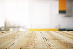 Lekki drewniany stołowy zbliżenie ilustracja wektor