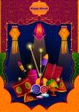 Lekki festiwal India Diwali Szczęśliwy świętowanie ilustracja wektor