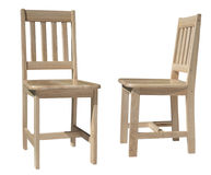 lekki krzesła drewno Zdjęcie Royalty Free