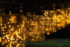 Lekki lampowy wystrój w święto bożęgo narodzenia na bokeh tle Obraz Stock