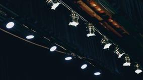 Lekki oświetlenie w teatru sufitu koncercie zbiory