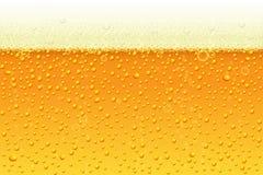 Lekki piwo z piankowym tłem Wektorowa ilustracja w realistycznym stylu dla menu projekta, sztandarów i ulotek pubu i baru, zdjęcia stock