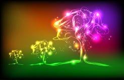 lekki projekta drzewo Zdjęcia Royalty Free