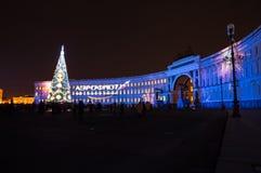 Lekki przedstawienie na pałac kwadracie Zdjęcie Stock
