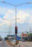 Lekki ruch drogowy na drodze Obrazy Stock