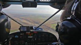 Lekki samolot, pilota punkt widzenia zdjęcie wideo