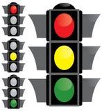 lekki semaforowy ruch drogowy Zdjęcia Royalty Free