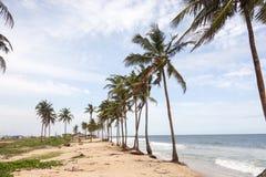 Lekki strand i Lagos Arkivfoton