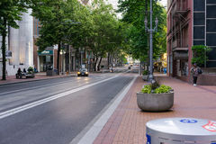 Lekki sztachetowy życzliwy miasto Portland Oregon fotografia stock
